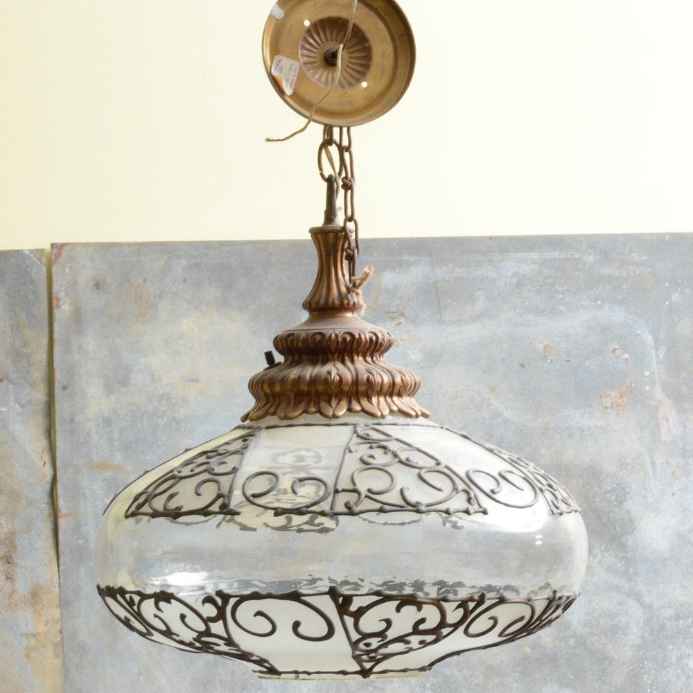Leaded Globe Style Vintage Light Pendant