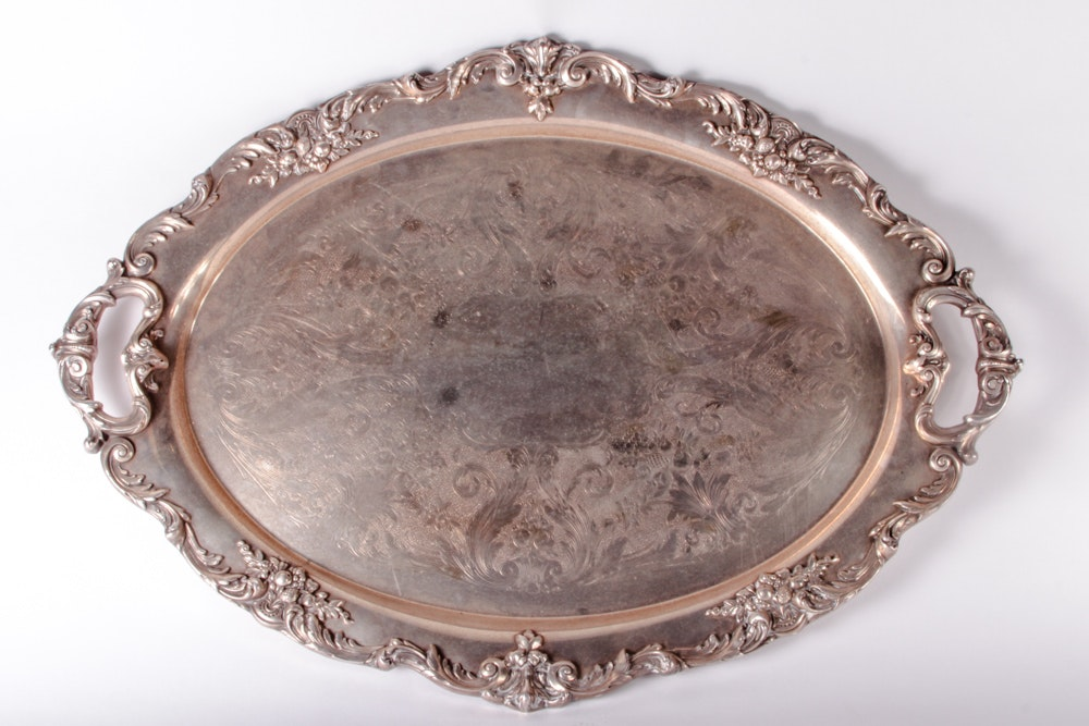 "Vintage Reed & Barton ""King Francis"" Silver Plated Serving Tray"
