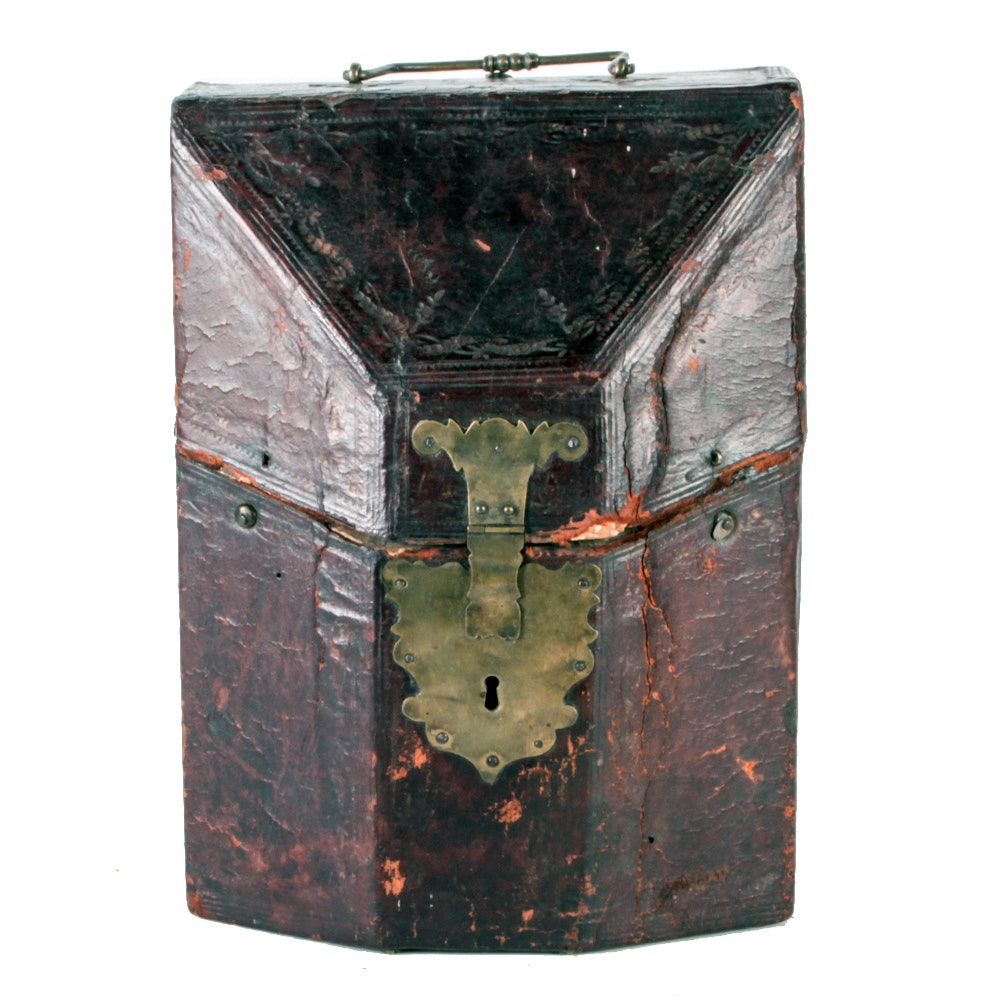 Vintage Leather-Covered Box