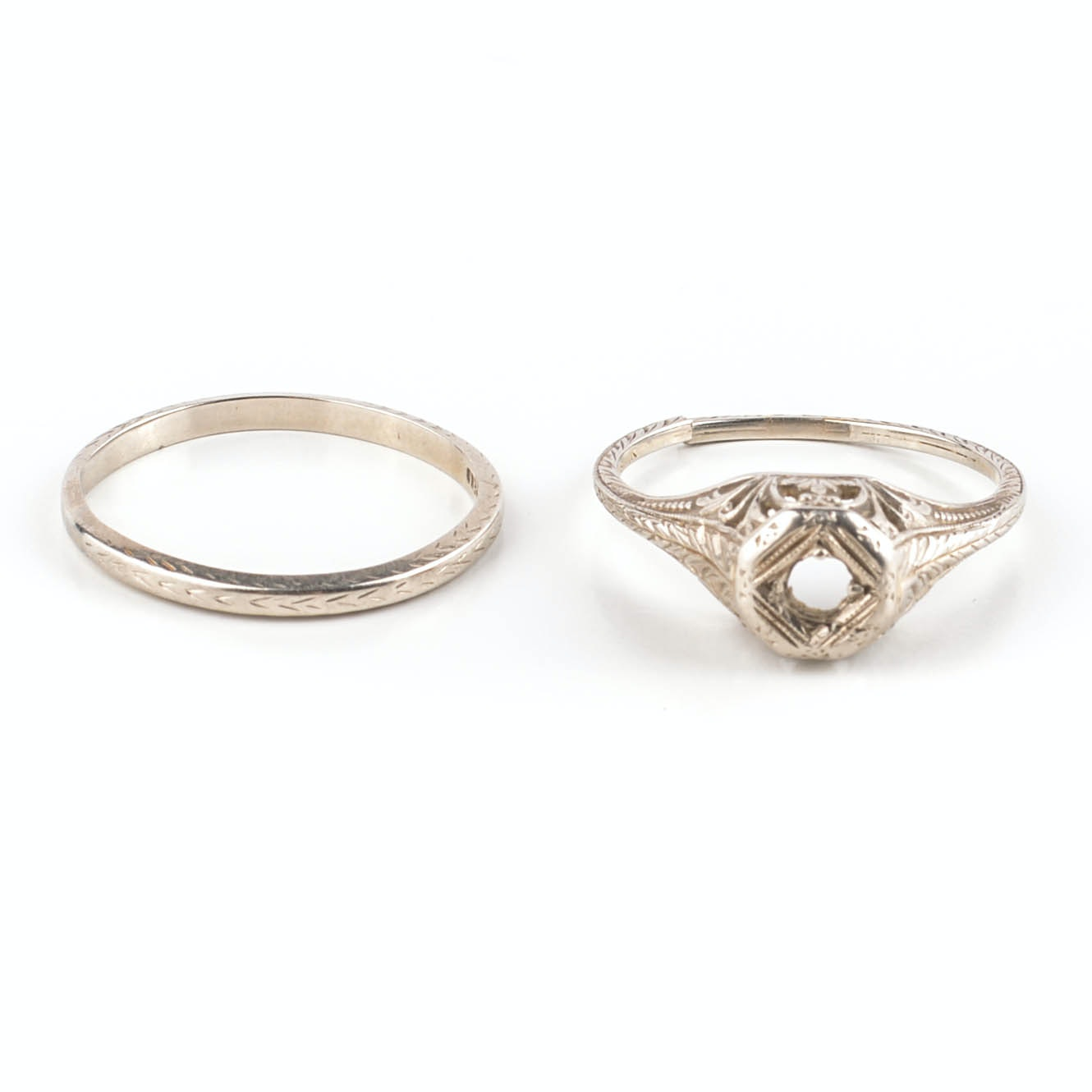 Two 18K Gold Rings