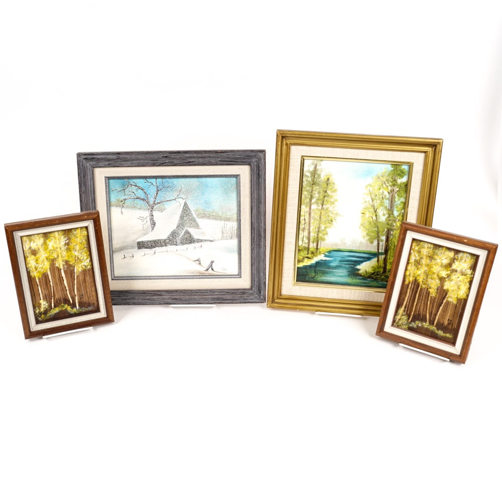 Collection of Signed Original Landscape Paintings