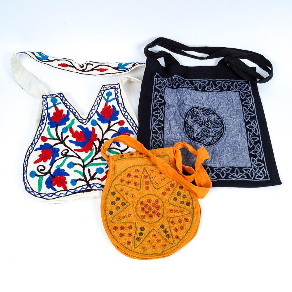 Three Bohemian Style Handbags