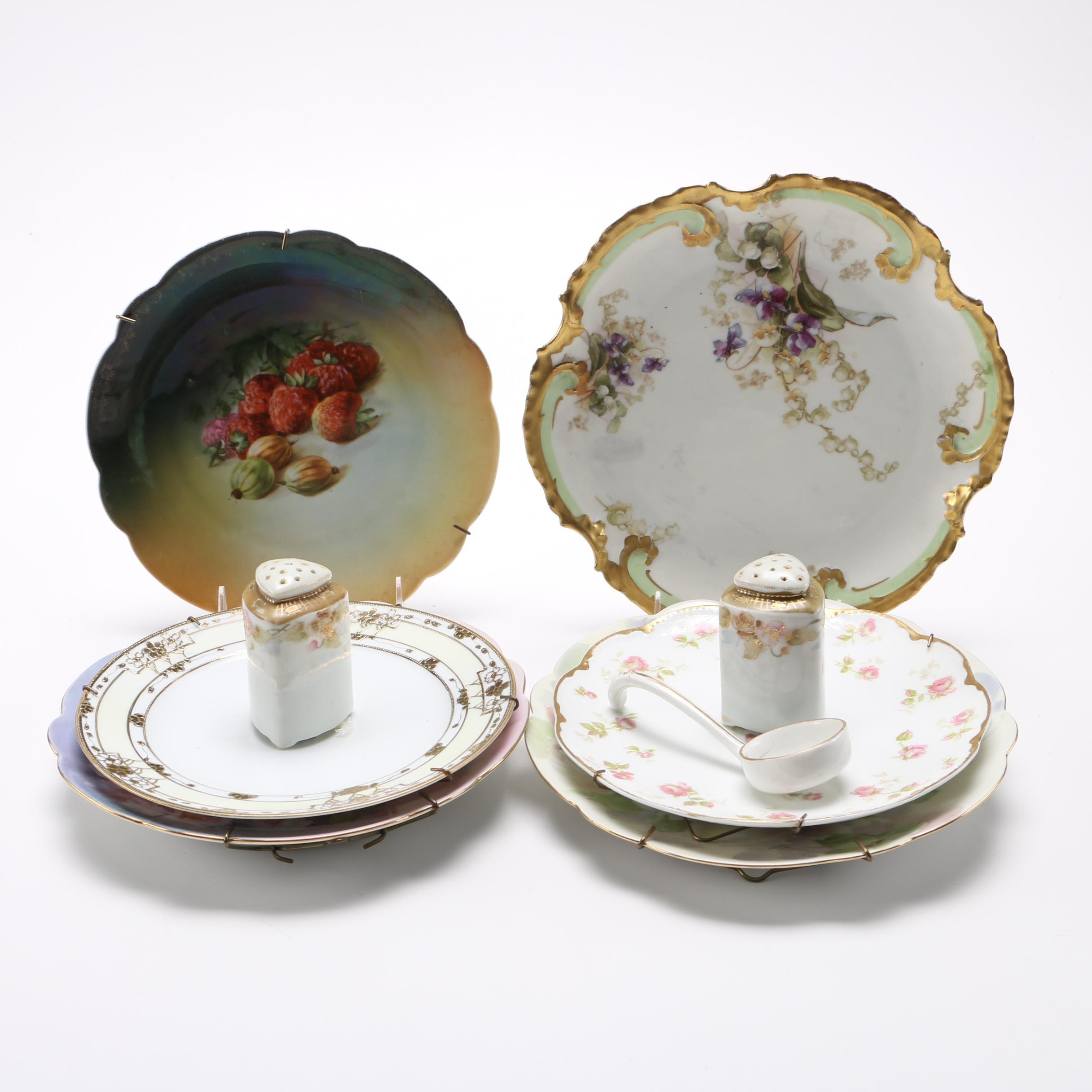 Decorative Porcelain Plates With Table Accessories With Limoges