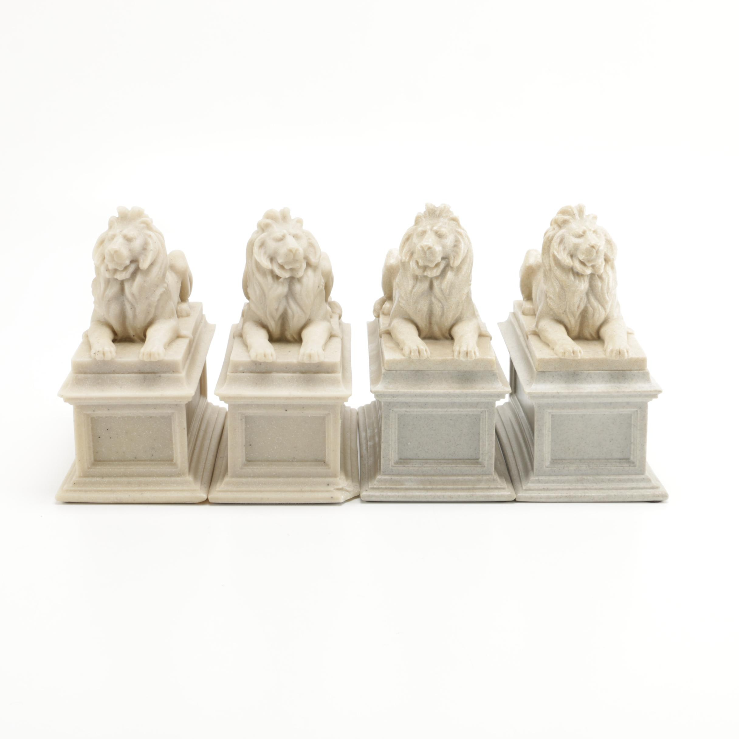 Collection of Lion Bookends