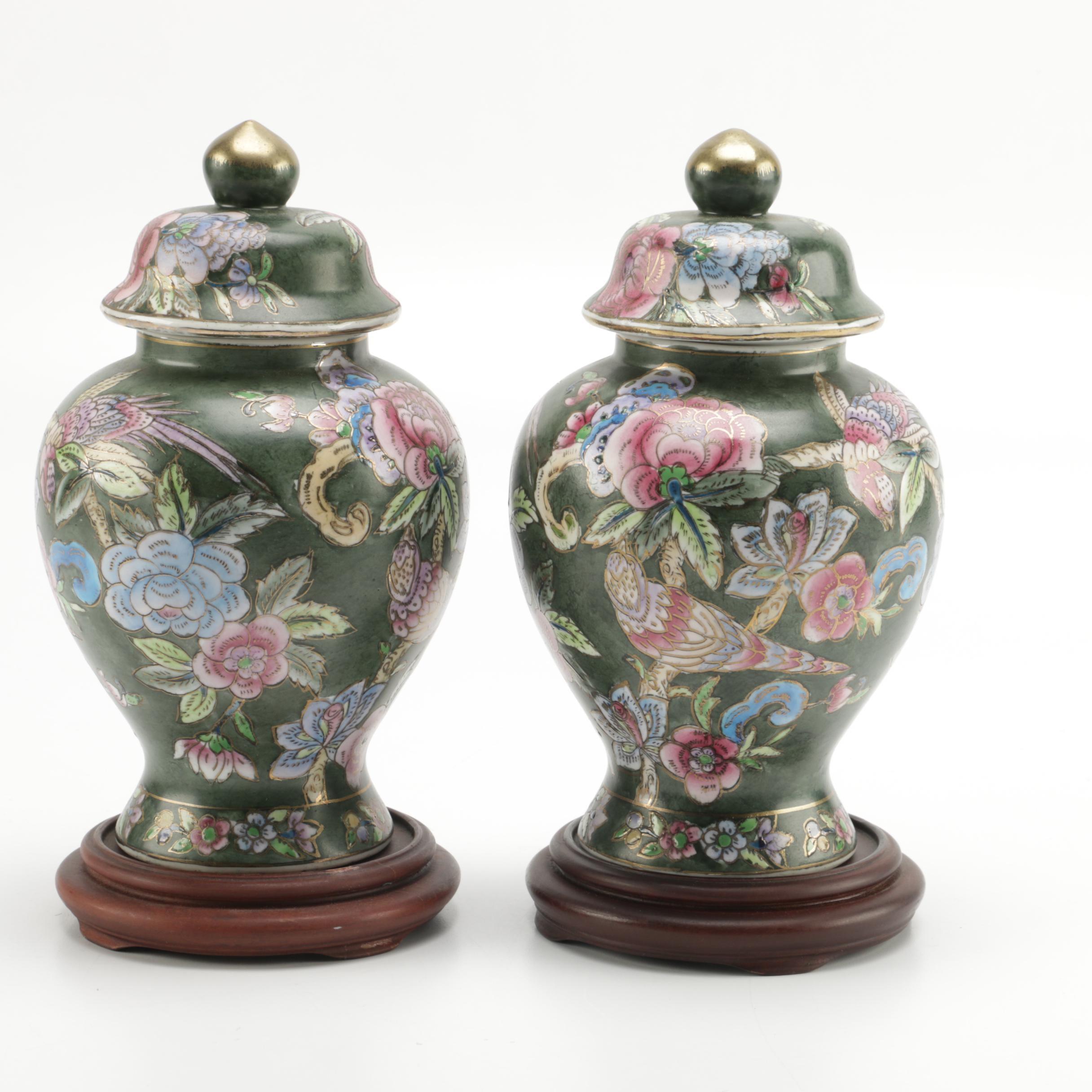 decorative chinese ginger jar style vases ebth