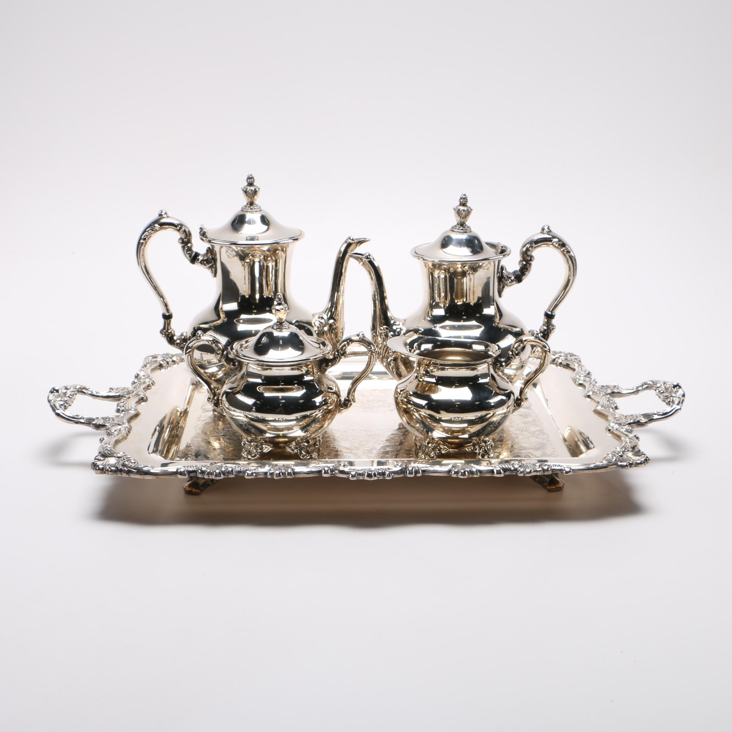 Silver Plated Lady Margaret Style Tea and Coffee Service