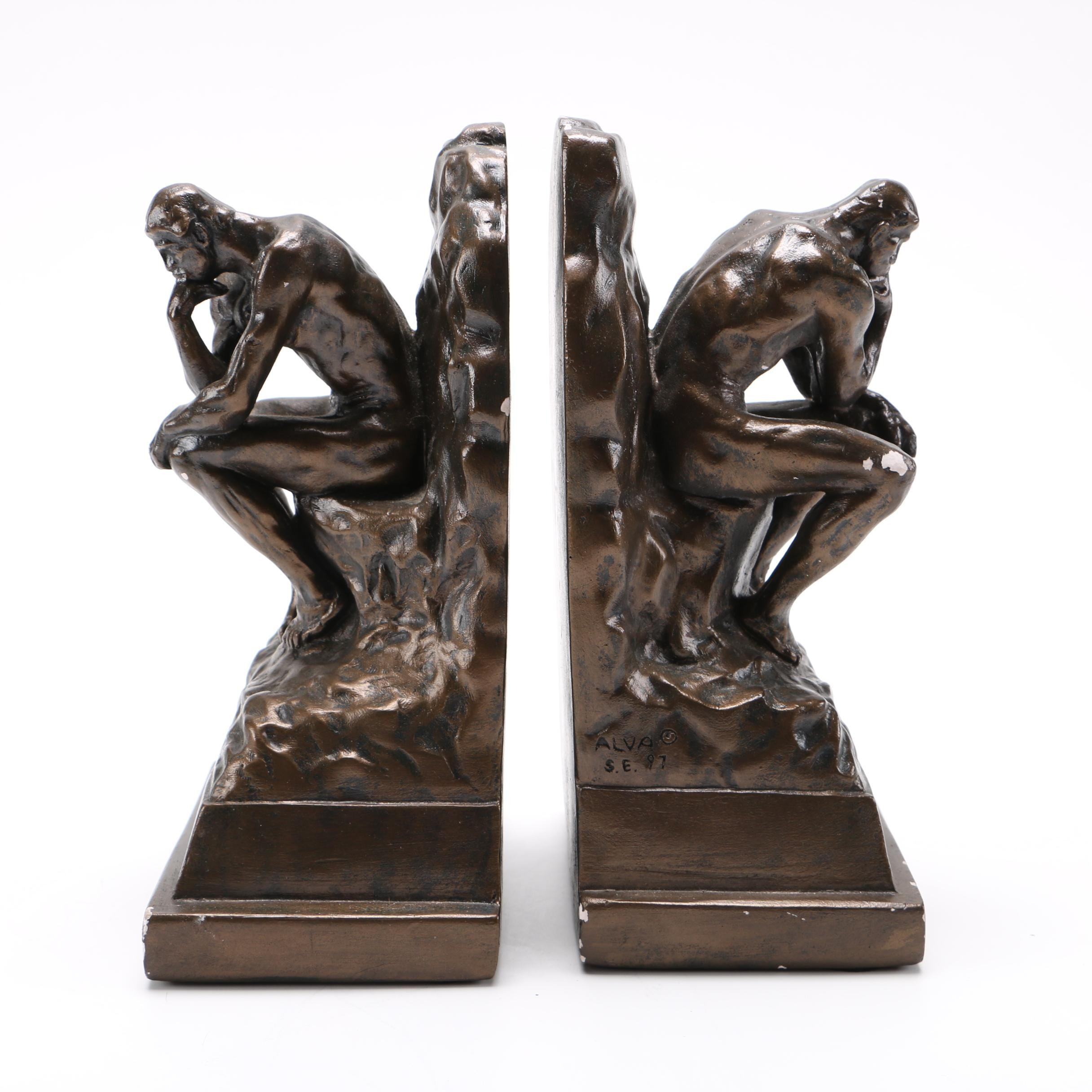Pair of Thinker Bookends
