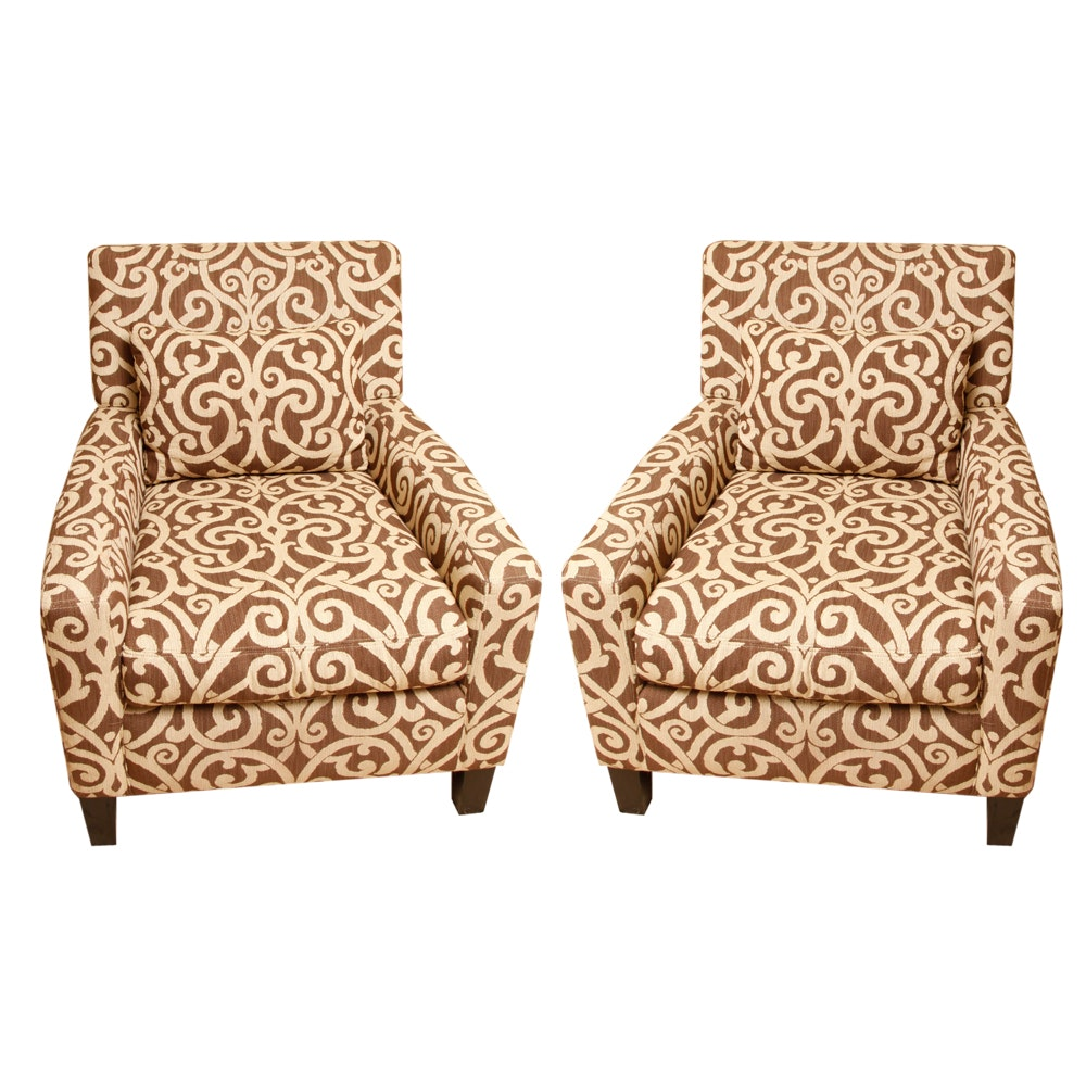 Pair of Upholstered Accent Chairs by Pottery Barn