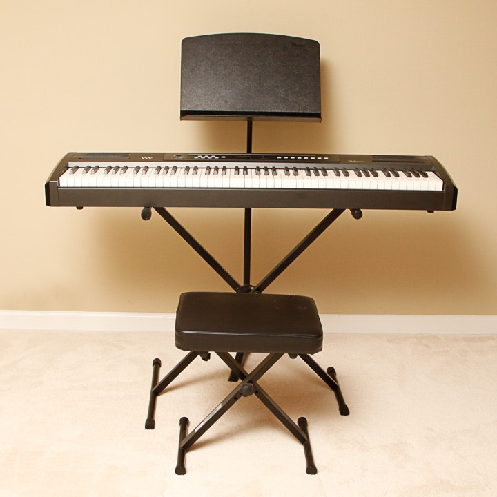 Williams Allegro Electric Keyboard Stand Seat And Music