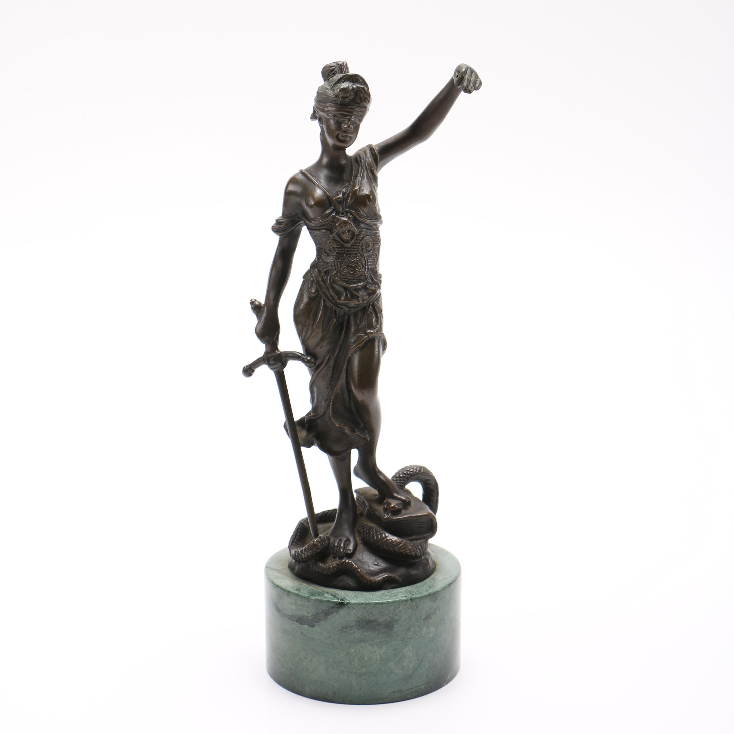 Bronze Sculpture Personification of Justice