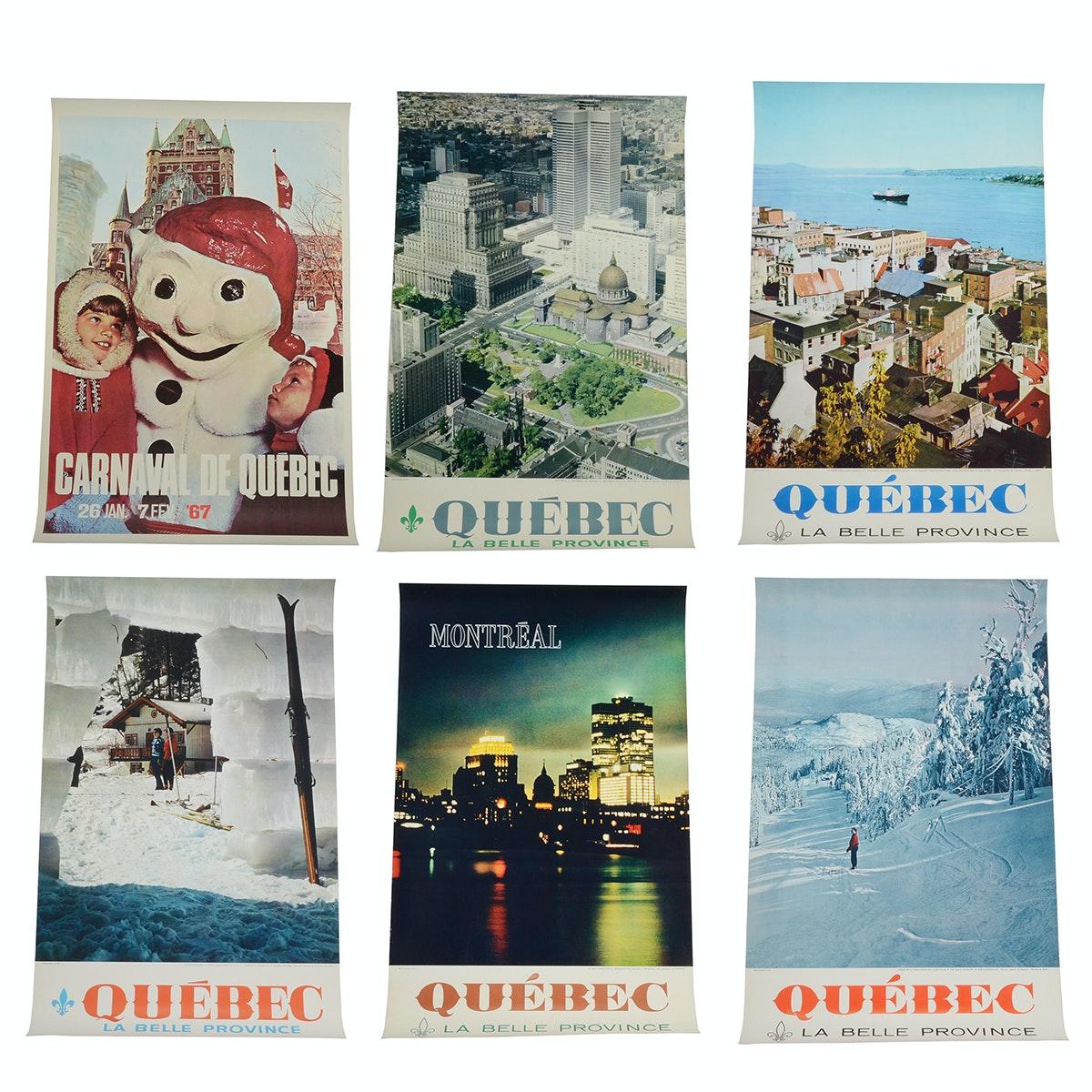 Six Original 1960s Québec Travel Posters