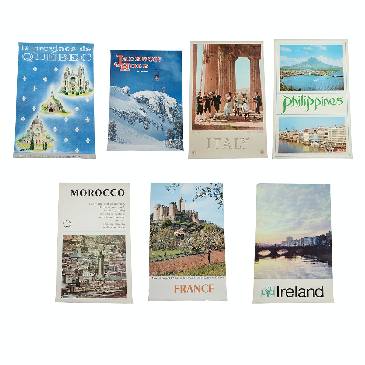 Seven Original 1950s and '60s International Travel Posters