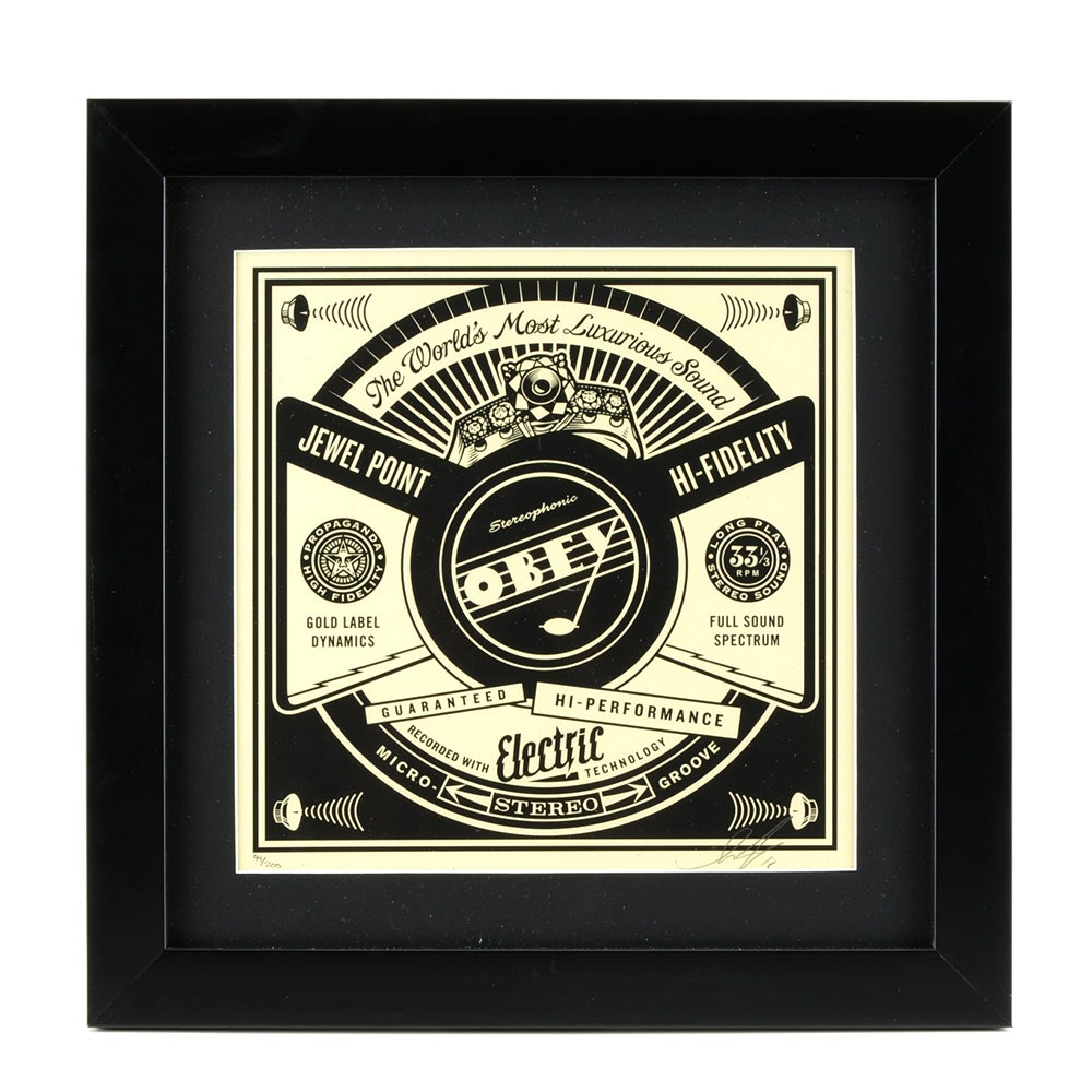 "Shepard Fairey Signed Limited Edition Serigraph from ""50 Shades of Black"""
