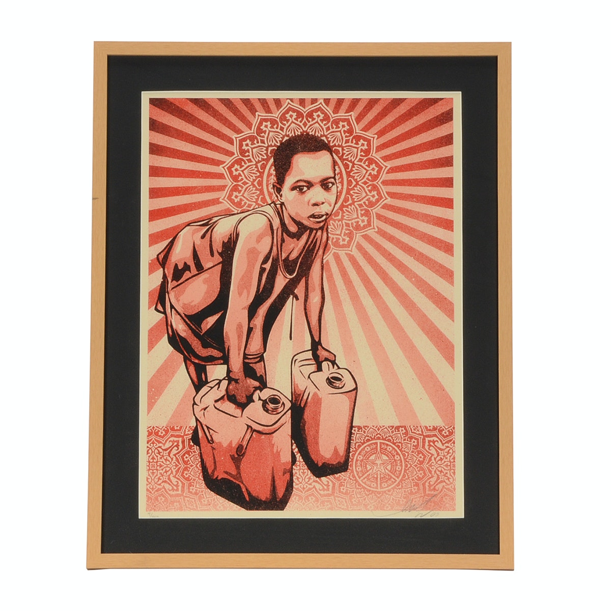"Shepard Fairey 2009 Signed Limited Edition Serigraph ""Yellow Cans"" for L.E.A.D. Uganda Benefit"