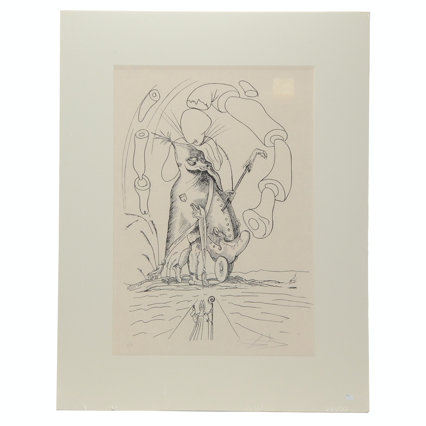 "Salvador Dalí Original Lithograph from ""Les songes drôlatiques de Pantagruel"""