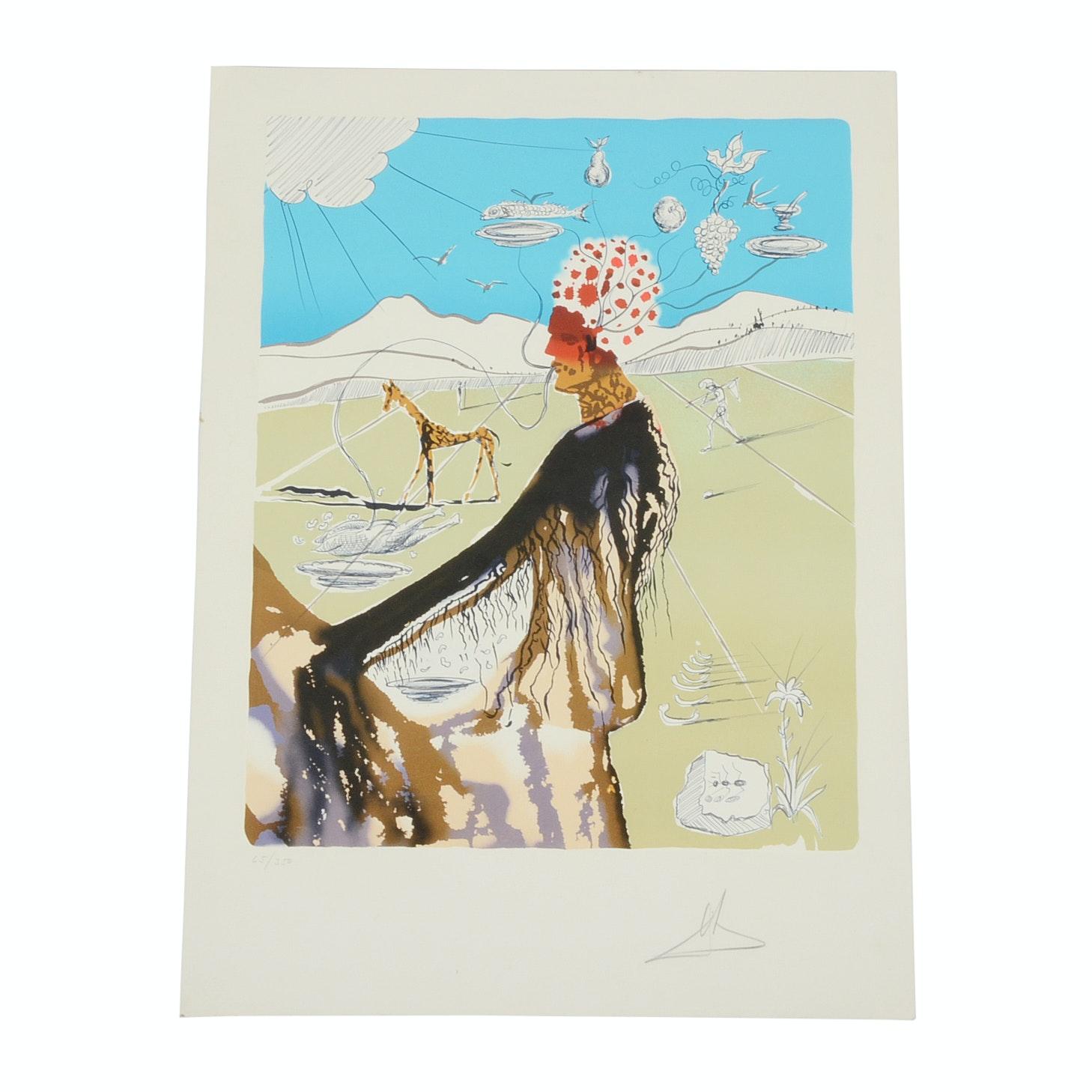 "Salvador Dalí Original Lithograph from ""The Earth Goddess"""