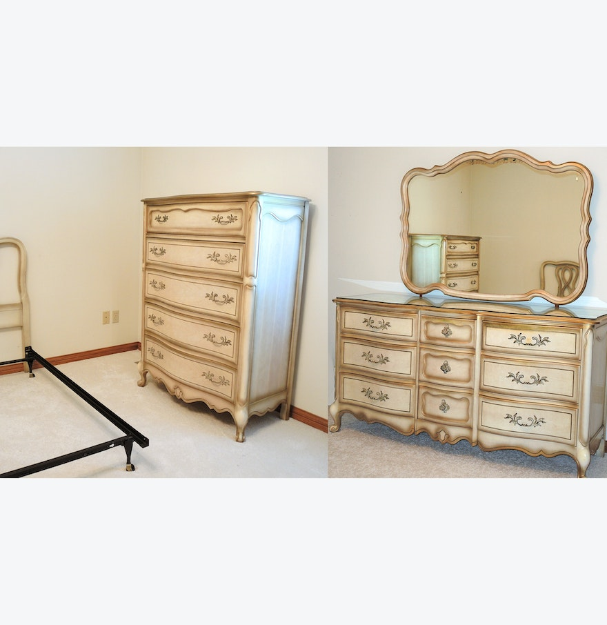 French provincial style bedroom set by bassett furniture for Looking bedroom furniture
