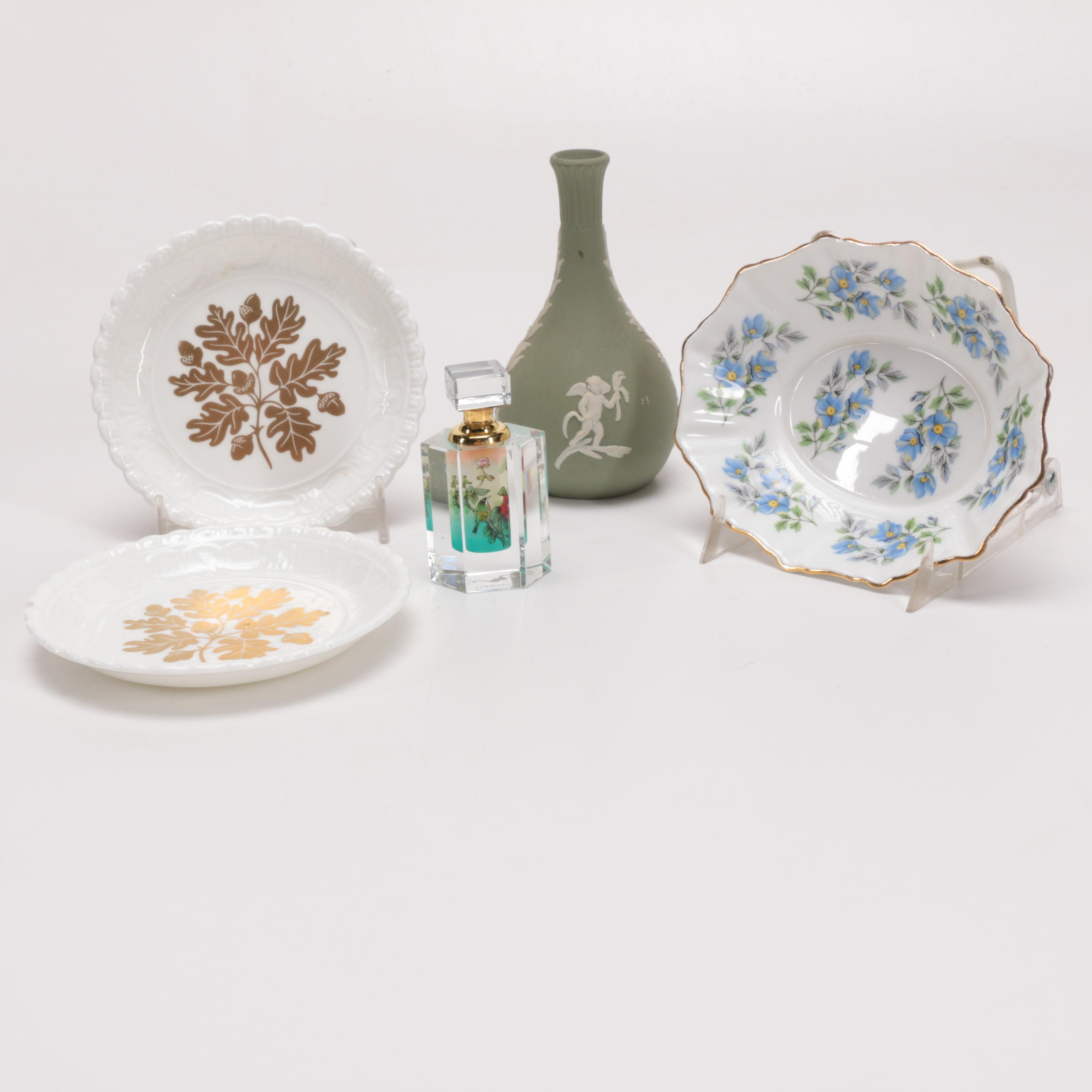 Collection of Home Decor Including Coalport and Wedgwood