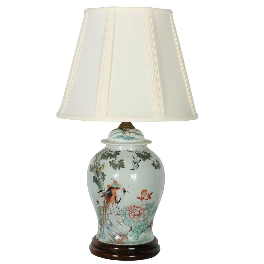20th Century Chinese Ginger Jar Lamp