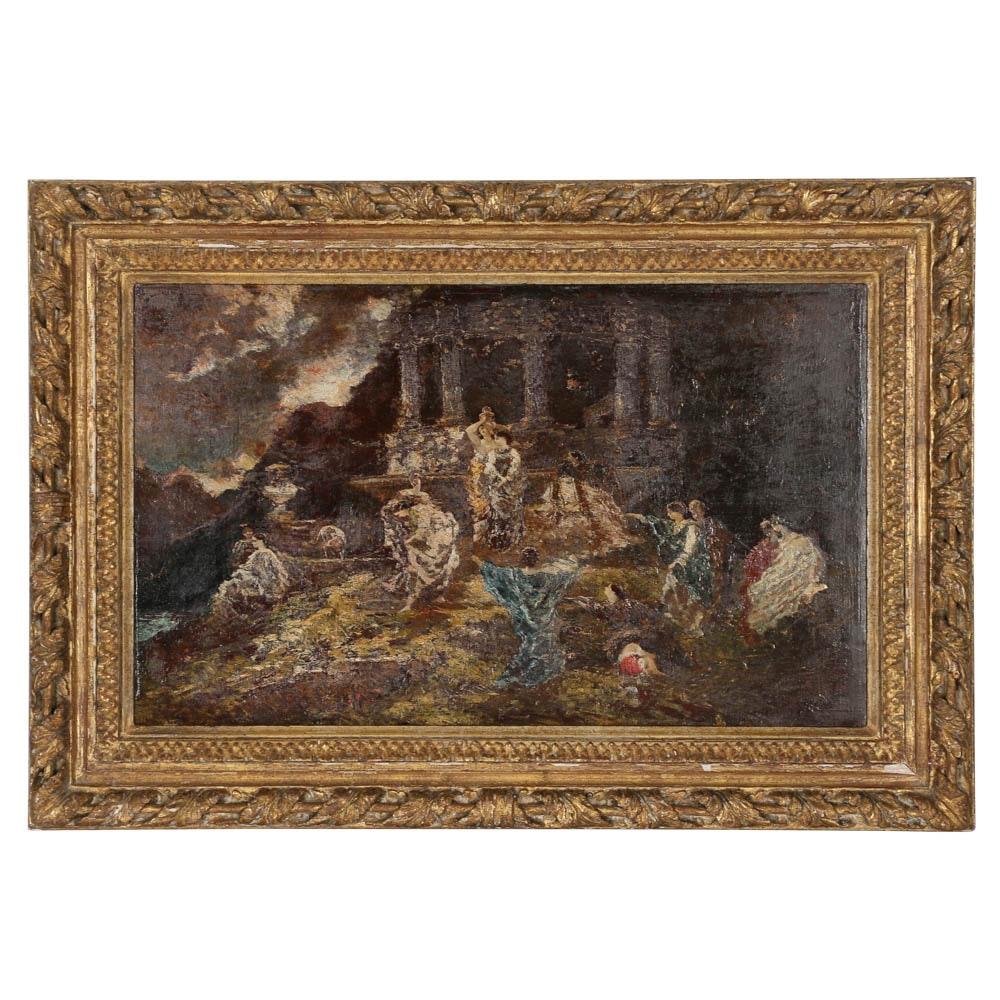"""Le Temple d'Eros"" by Adolphe Joseph Thomas Monticelli"