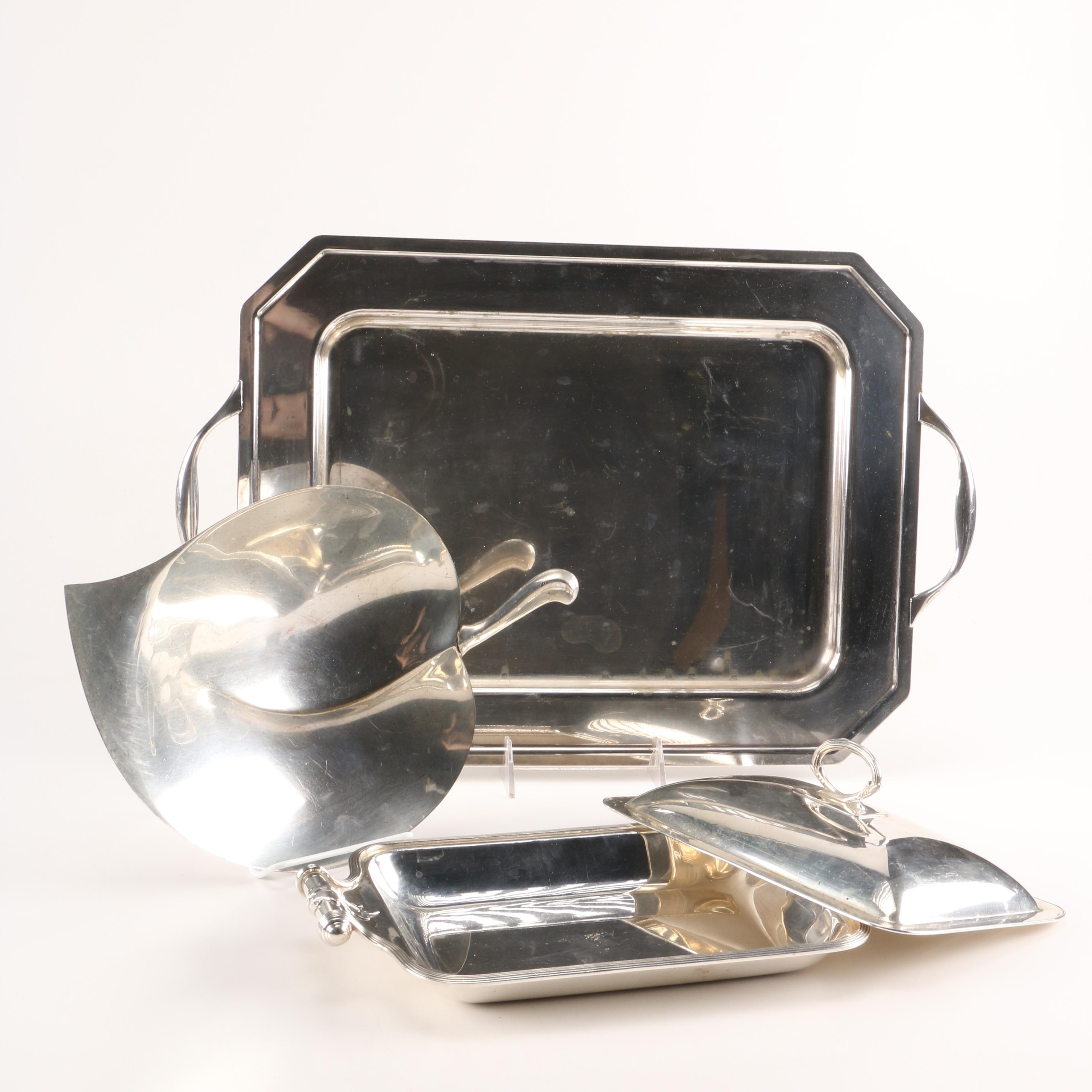 Collection of Plated Silver and Silver-Tone Serveware