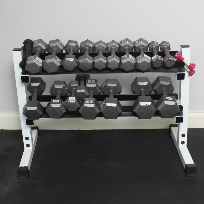 Weight Stand and Dumbbells