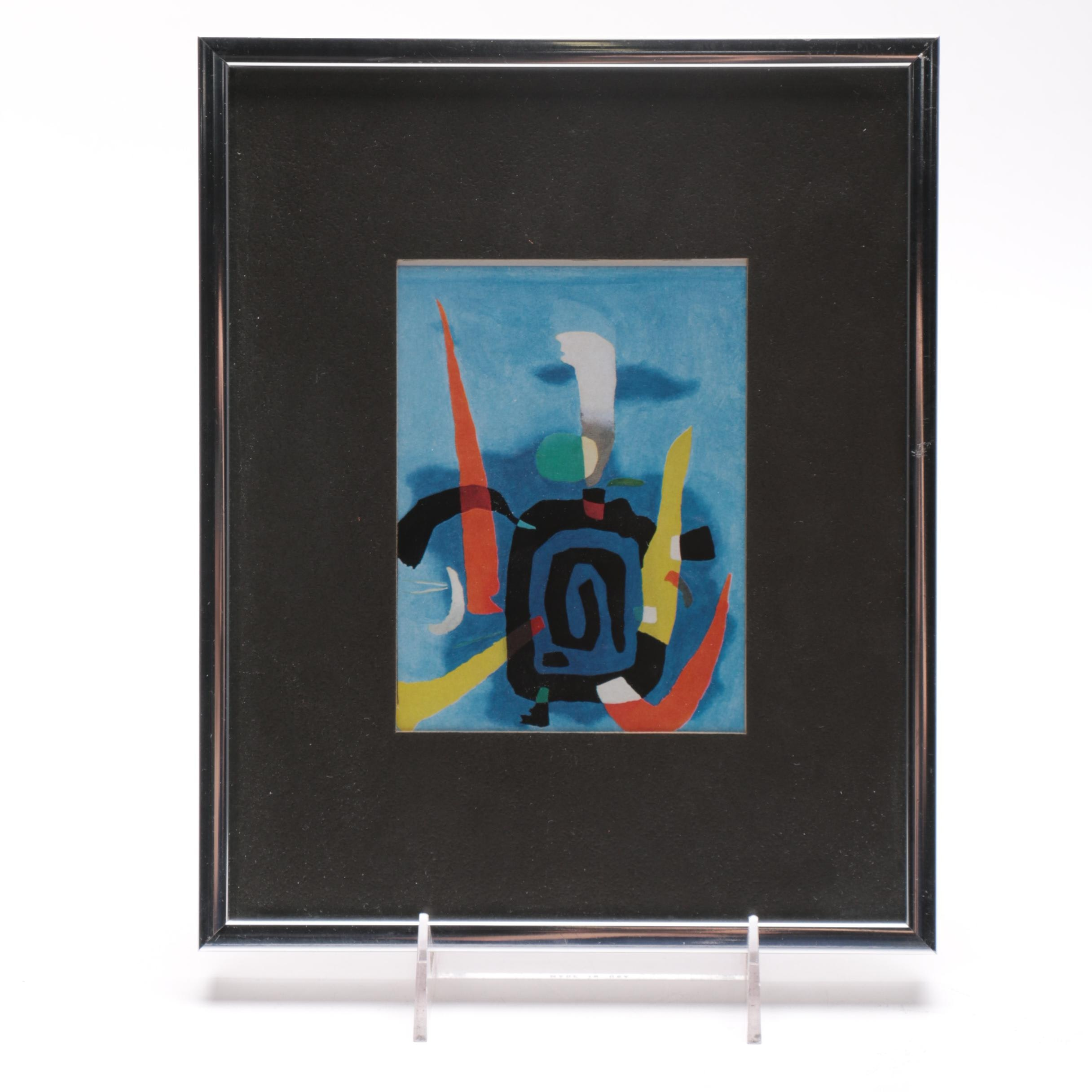 """Offset Lithograph After Willi Baumeister Titled """"Bluxao V"""""""