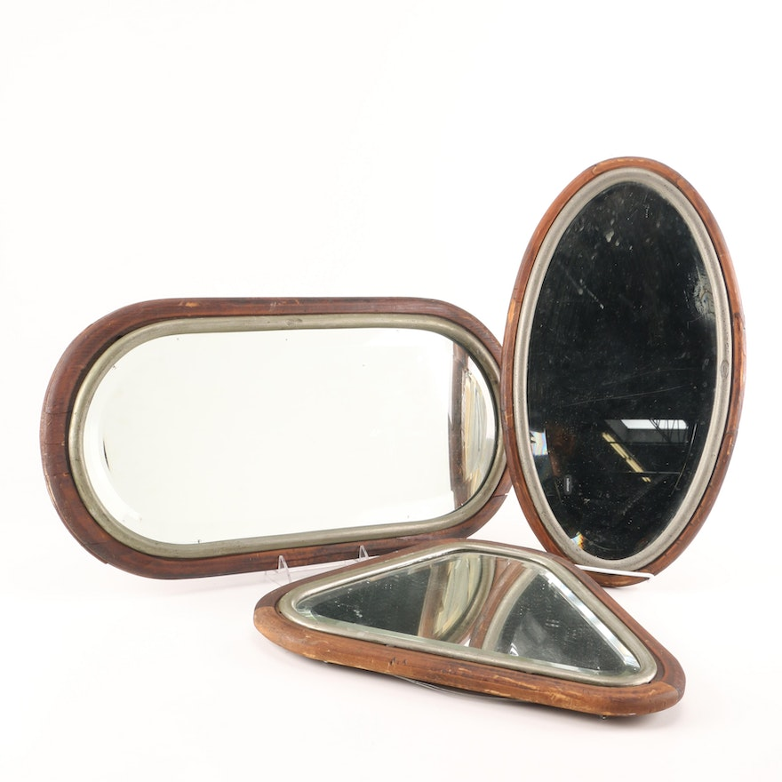 Johnston Mirrors With Wood And Metal Frames Ebth