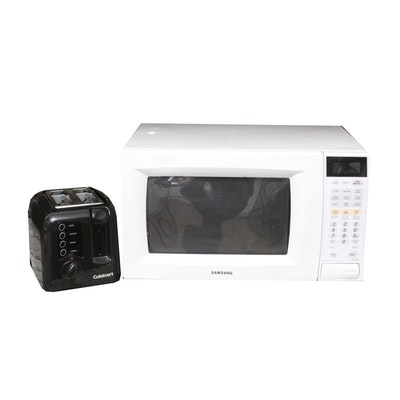 Samsung Microwave And Cuisinart Toaster
