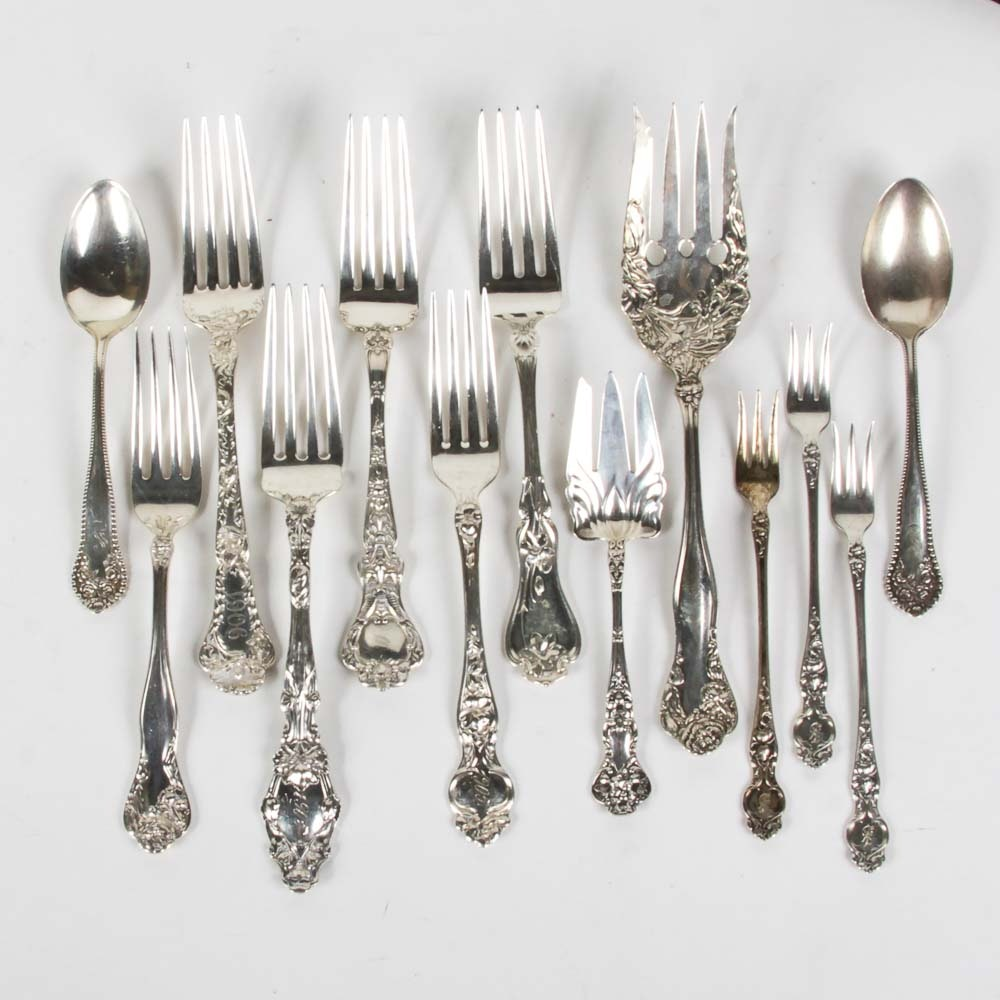 Assortment of Antique Sterling Silver Flatware