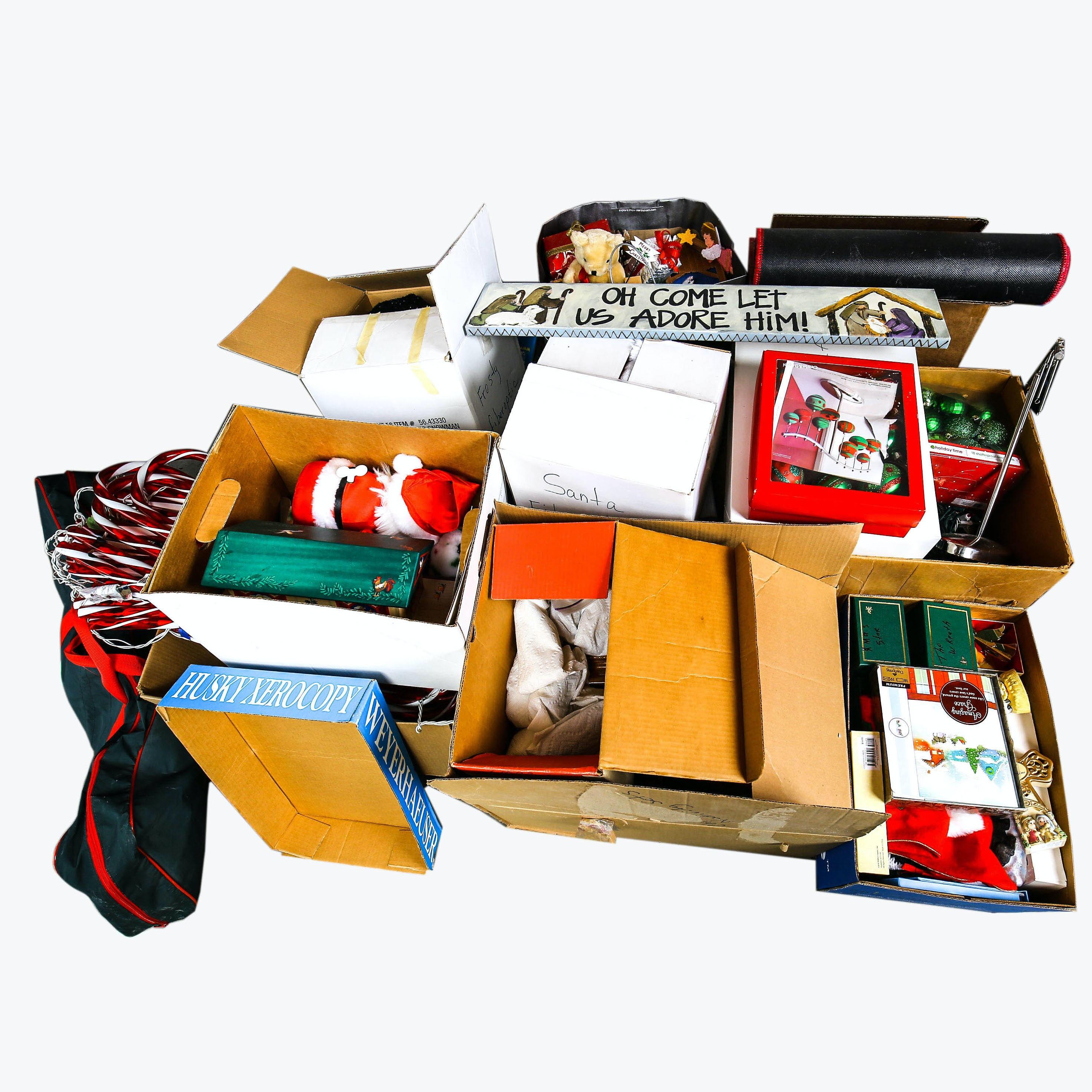 Large Variety of Christmas Decor