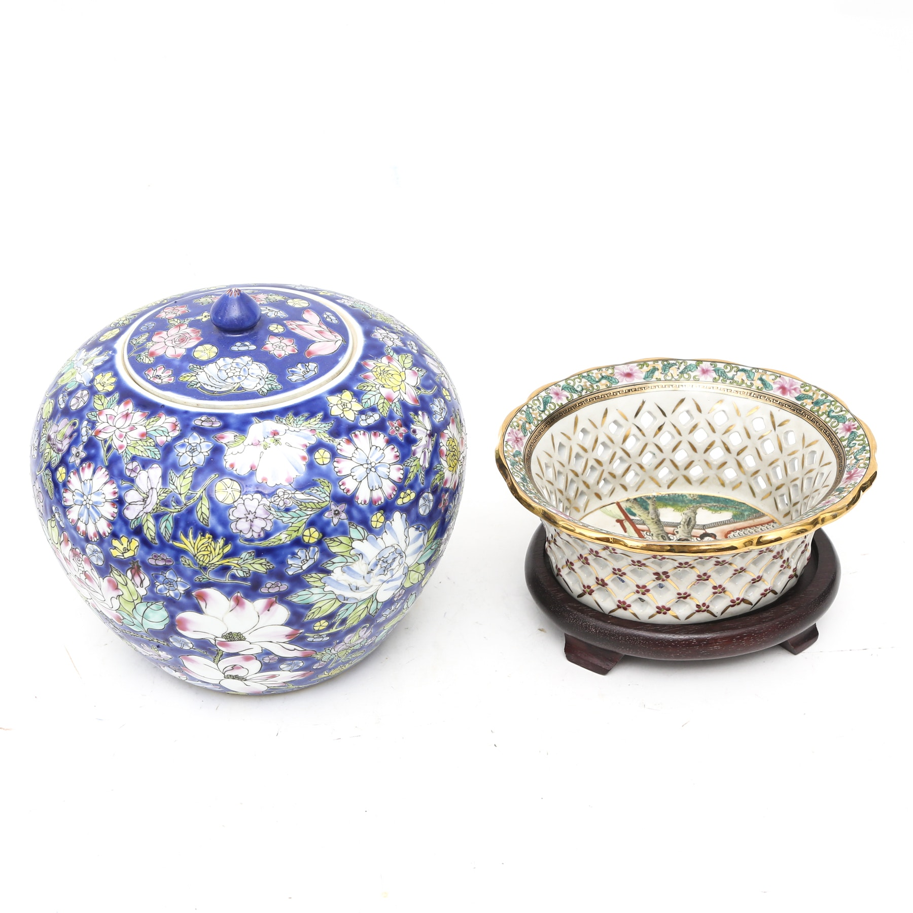 Chinese Bowl with Ginger Jar