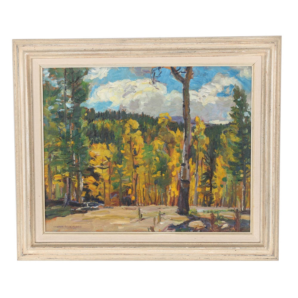 Impressionistic Taos Landscape by Charles Berninghaus (1905-1988)