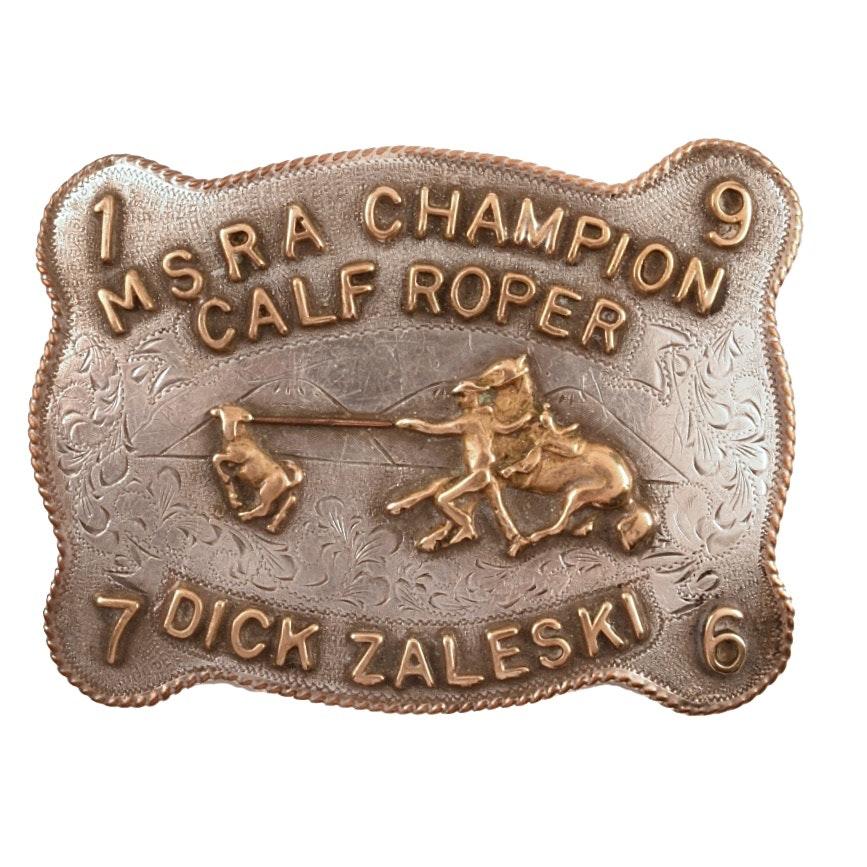 MSRA Champion Calf Roper Dik Zalsen
