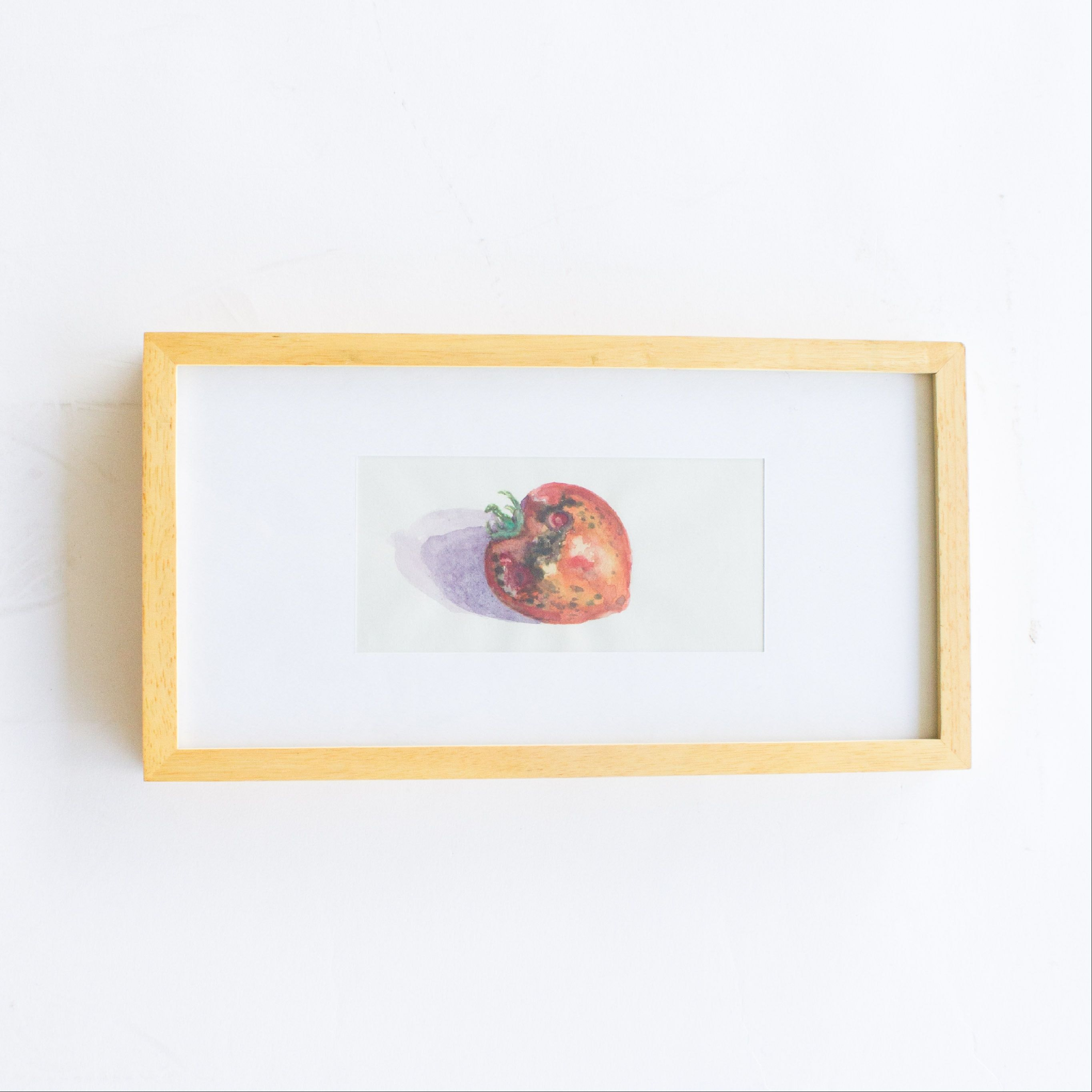 Joseph Gargasz Watercolor of a Strawberry