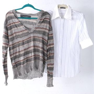 Dolce & Gabbana Women's Sweater and Short Sleeve Shirt