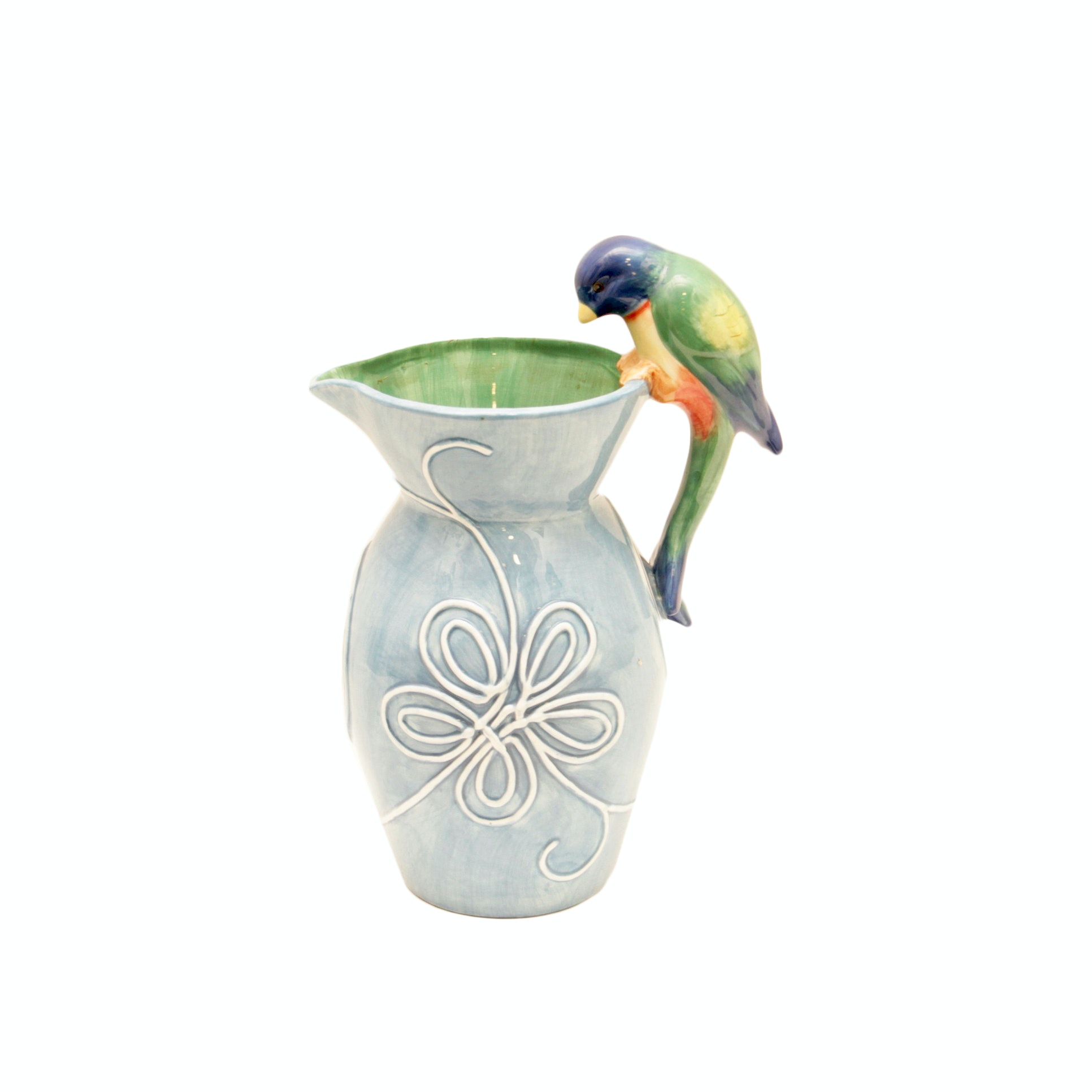 Parrot Themed Pitcher by Fitz and Floyd