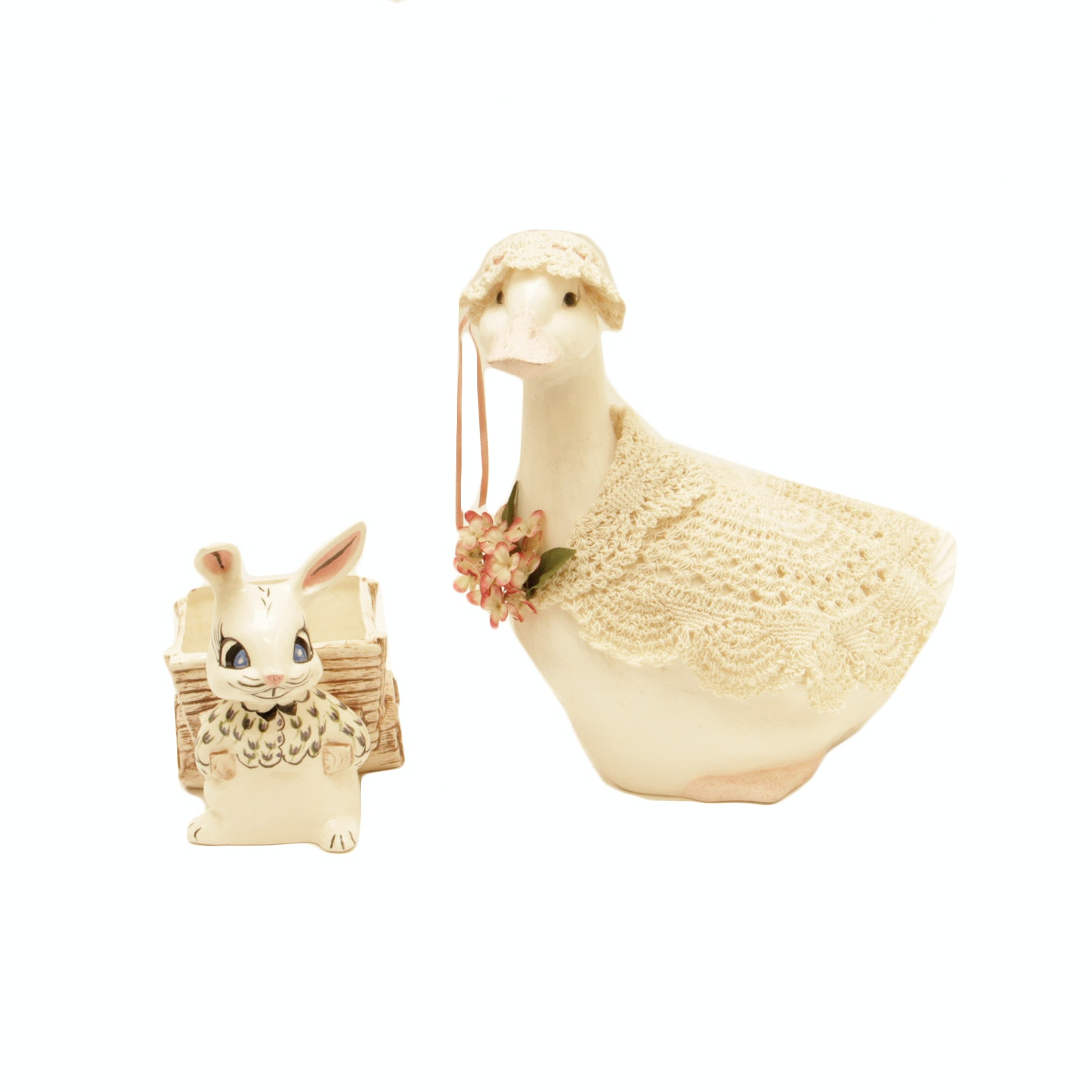 Ceramic Duck by Southwest Spirits and Bunny Basket