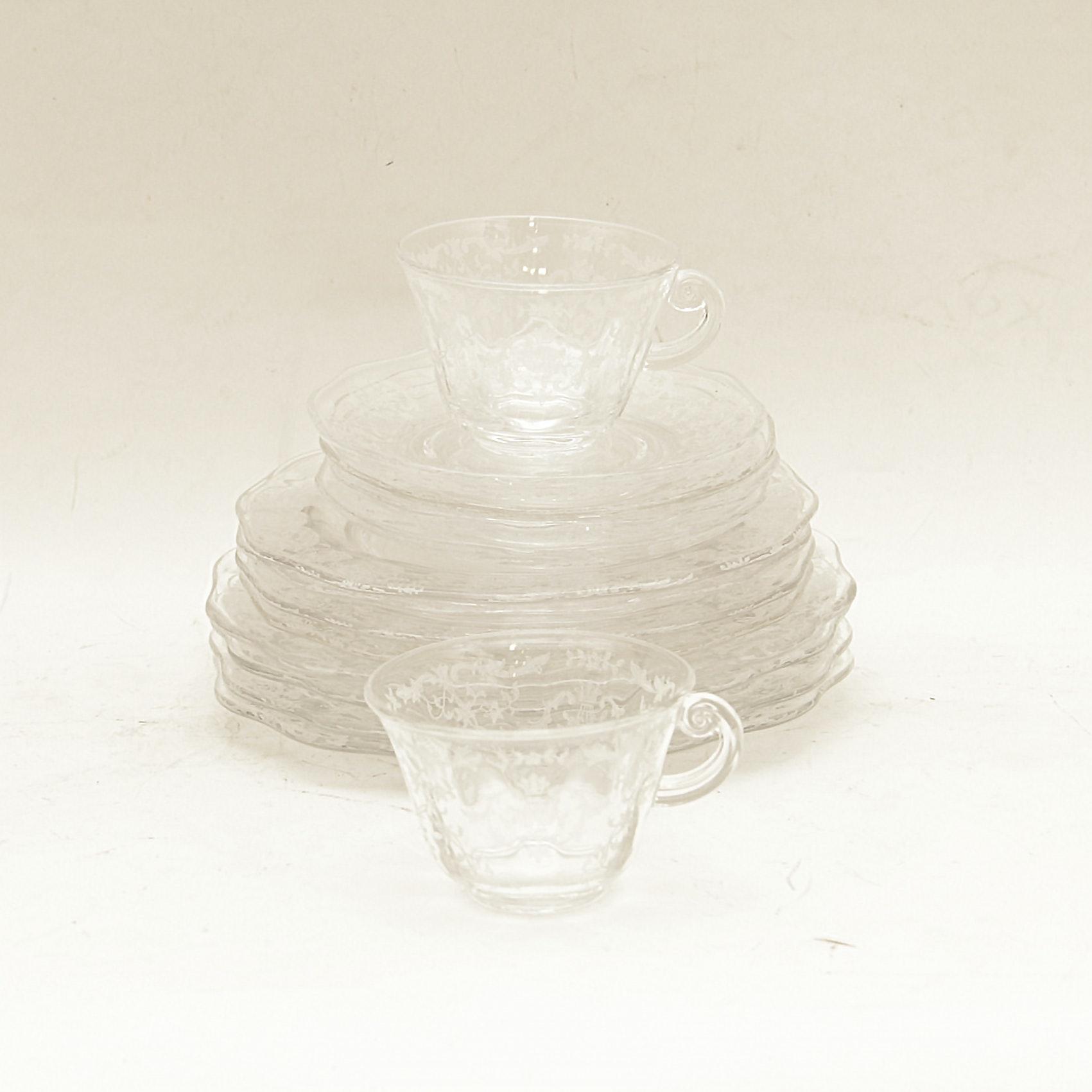 Vintage Etched Glassware