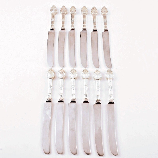 "Set of Twelve Gorham ""Medallion, 1864"" Sterling Handle Knives"