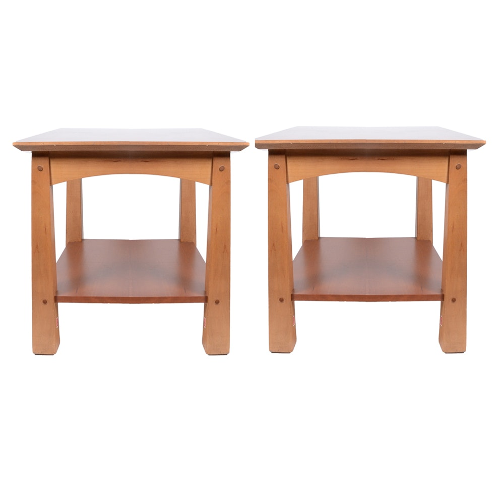 Cherry Wood End Tables By Lane ...