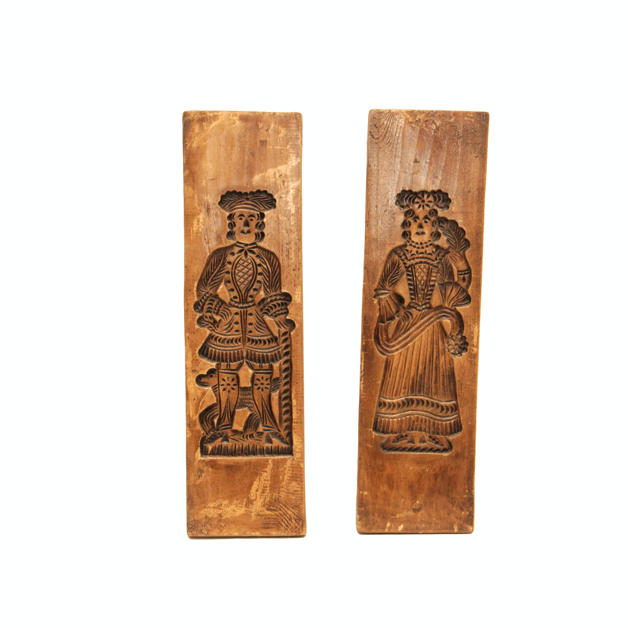 Two Metal Carved Plaques of  a Renaissance Couple