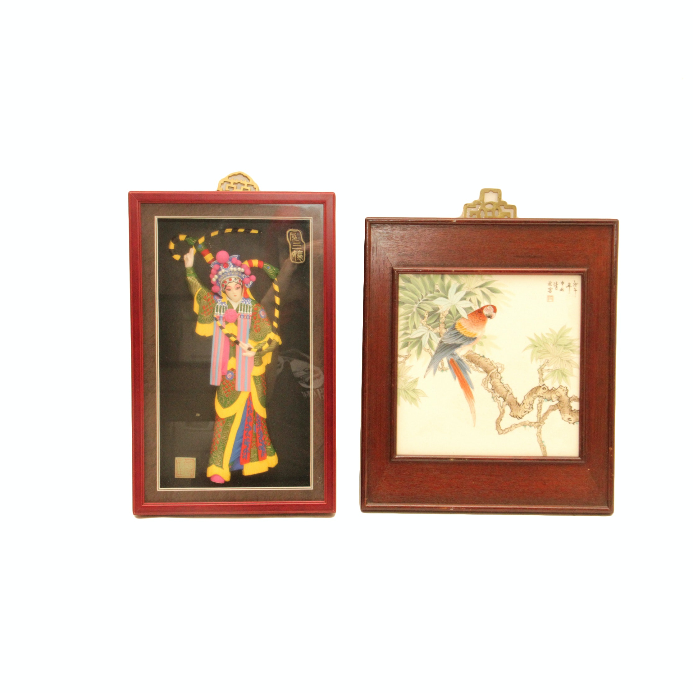 Framed Painted Tile Artwork