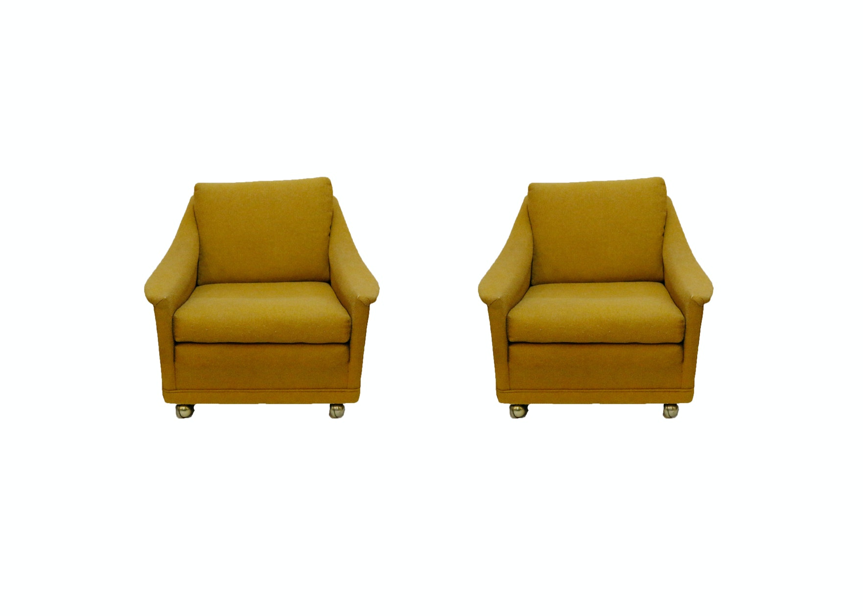 Pair of Vintage Goldenrod Armchairs