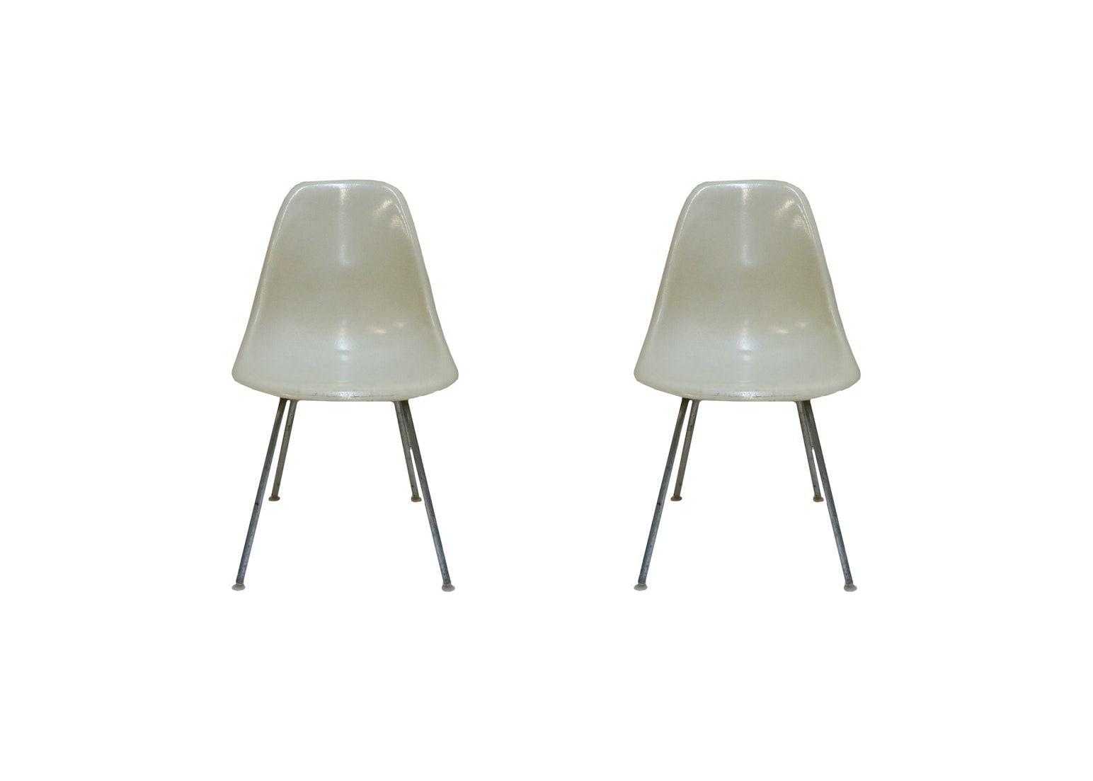 Two Eames Shell Chairs by Herman Miller