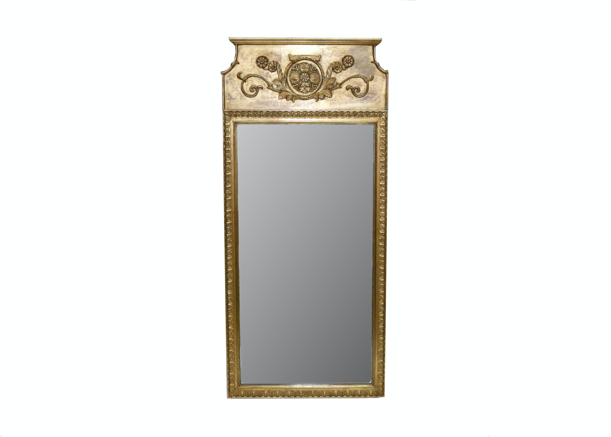 Gold Toned Wooden Ornate Wall Mirror