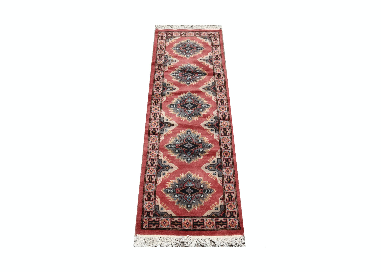 Hand-Knotted Kazak Carpet Runner