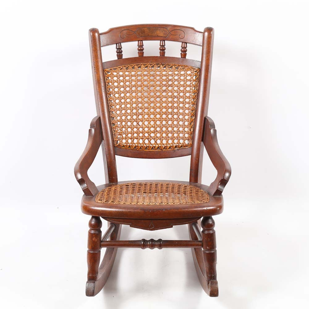 Child Sized Cane Rocking Chair
