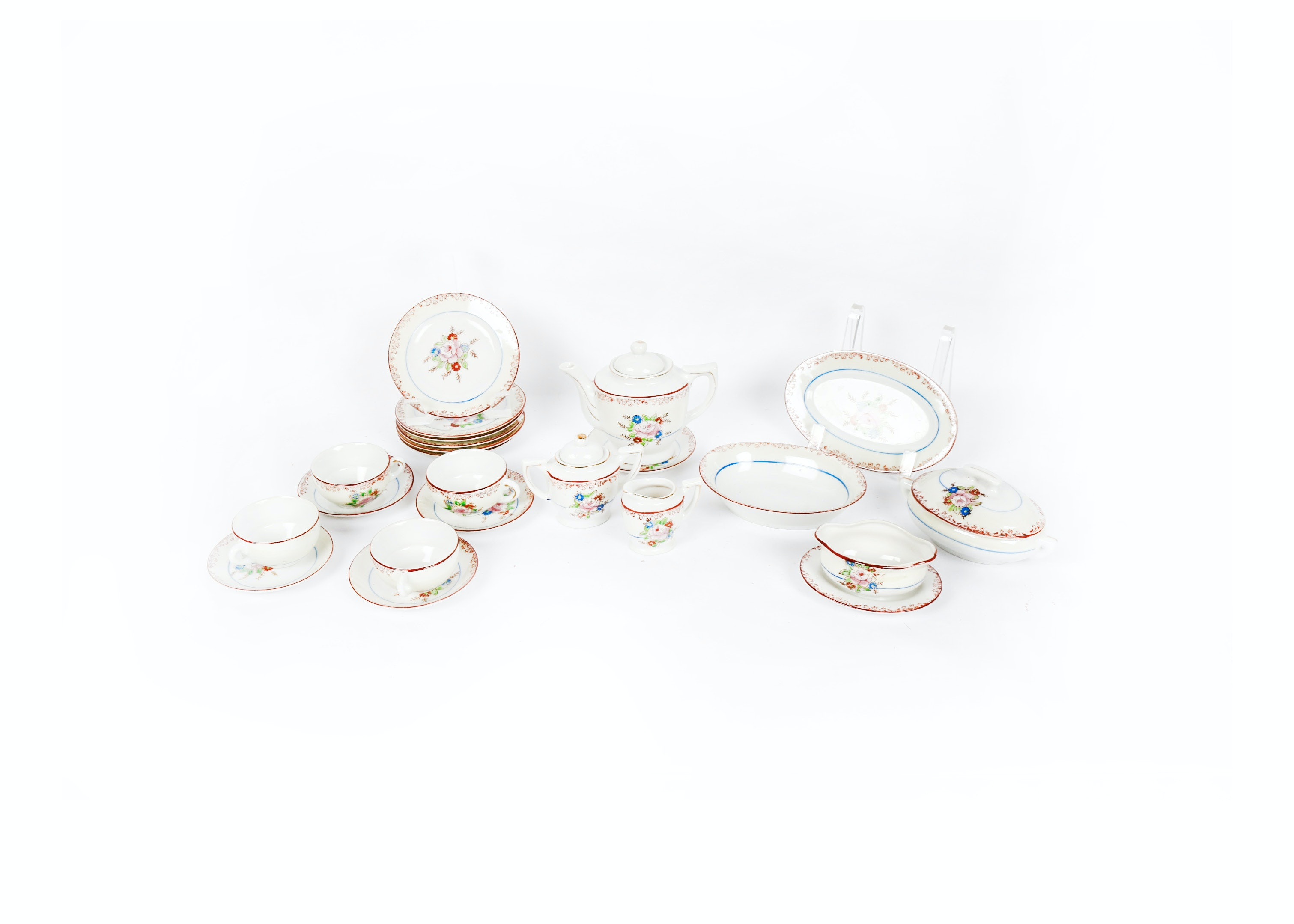 Set of Miniature China Doll Dishes