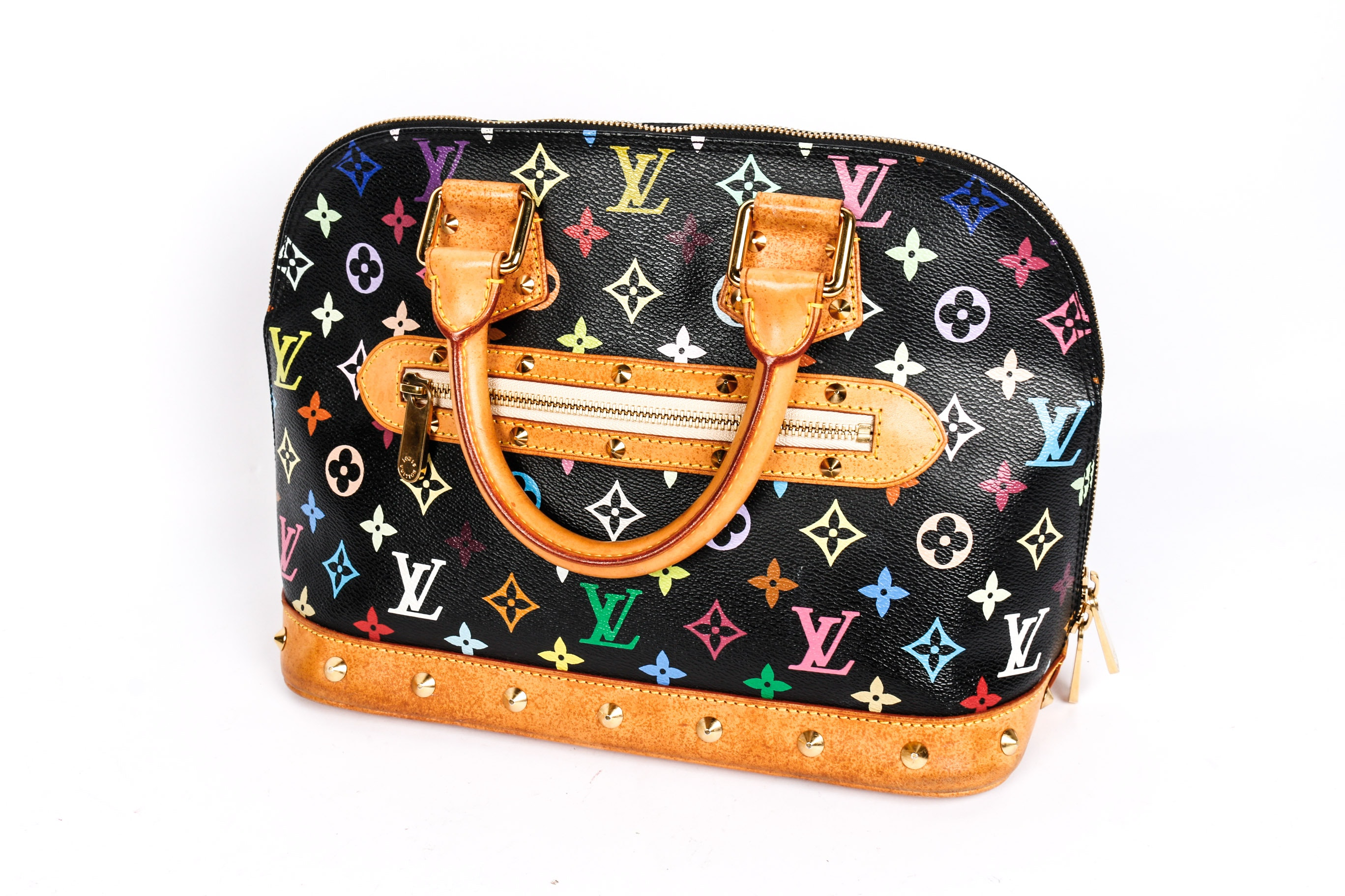 Louis Vuitton Multicolor Alma Noir Handbag